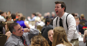 Brothers Laughing at Kuebler Banquet