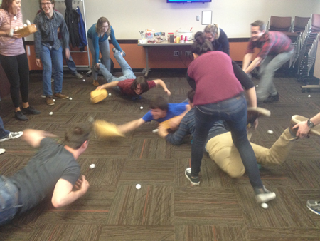 Beta Members Playing Hungry Hungry Hippos