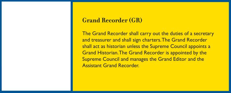 Grand Recorder Job Description