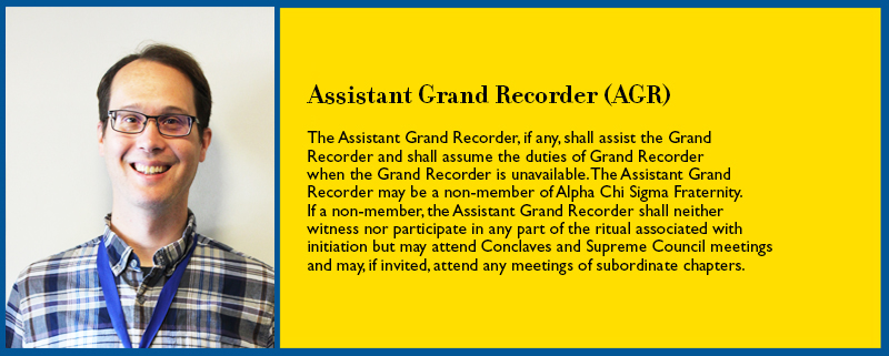 Grand Recorder Job Description